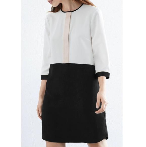 Warehouse Dresses & Skirts - Warehouse shift color block placket dress